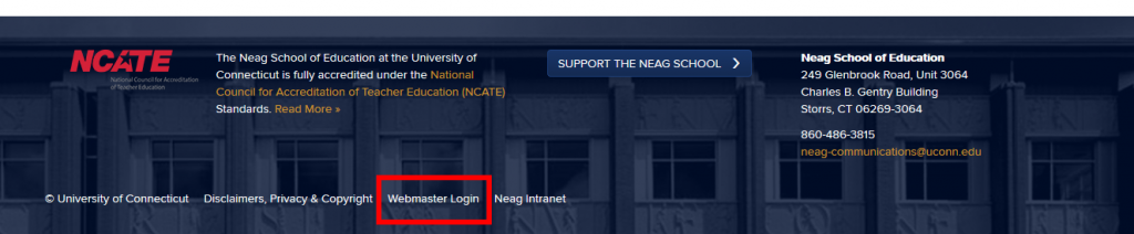 Webmaster Login