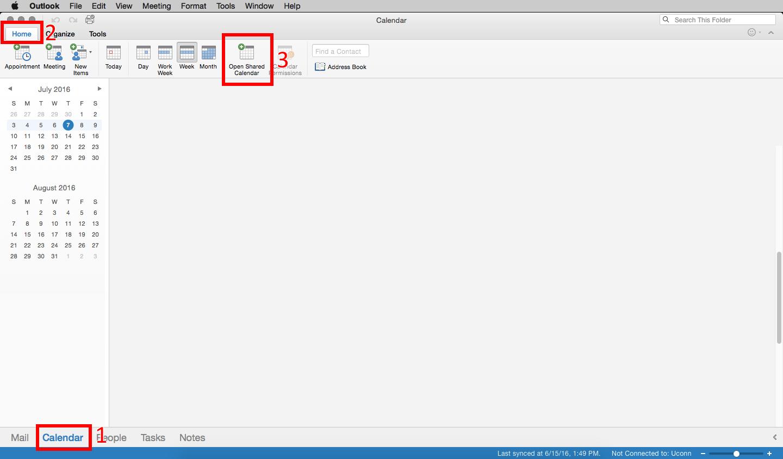 Mac - Open Shared Calendar